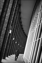 columns of the giants (bostankorkulugu) Tags: germany walk columns pillars tilted tilt korkut graphism graphics geometry europe deutschland bw bostankorkulugu bostanci bostan blackwhite blackandwhite monochrome hansestadt hanseatic curve curved steigenberger hamburg