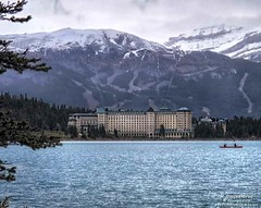 Hiking around Lake Louise in the Canadian Rockies (PhotosToArtByMike) Tags: fairmontchateaulakelouise lakelouise lakelouiseskiarea emeraldlake turquoisecoloredwater banff banffnationalpark turquoisewaters canadianrockies albertacanada mountain mountains
