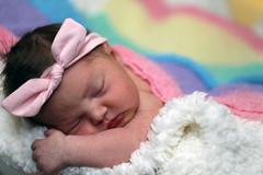 birth day (bnbalance) Tags: newborn baby adorable girl pinkbow infant pink dayone justborn