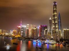 Shanghai Bund and Pudong area (walterkolkma) Tags: china shanghai pudong bund river hanpu building architecture urban city cityscape neon lights walter kolkma panasonic nikon p900