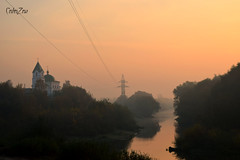 церковь у реки (alehhubarevich) Tags: church morning sky belarus gomel sunrise river