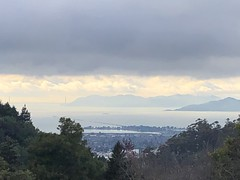High on the Hill (Melinda * Young) Tags: scenic vista clouds mountains bay bridge goldengate heights uc strawberrycanyon botanicalgarden ucbg afternoon garden bayarea west solstice berkeley