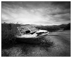Small wrecked boat (Wilco1954) Tags: wreck corsica boat mono hautcorse river saintflorent