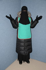 Warm Clothed (Warm Clothes Fetish) Tags: sweat torture hot warm girl fleece fur boots anorack coat niqab hijab chador