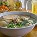 Vietnamese Noodle Dish with Mushroom Pork based Broth in Saigon