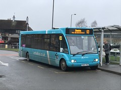 AMN 2497 @ Cannock bus station (ianjpoole) Tags: arriva midlands optare solo m1020 yk57fhj 2497 working route 63 cannock bus station rugeley