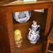 Corner curio cabinet, Russian Room