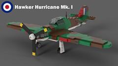 Lego Hawker Hurricane Mk I - 01 (Lt. SPAZ) Tags: lego hawker hurricane mki fighter raf battle britain allies moc
