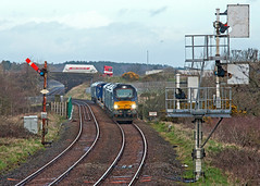 Pussy Galore (Richie B.) Tags: workington cumbria 6c22 drs direct rail services vossloh caterpillar class 68 68017 68002 68016
