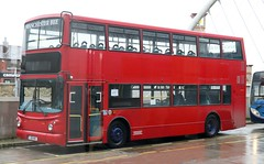 Go Goodwins, Eccles, (On Hire to Rotala Diamond Bus North West) is GUI 441 on layover at Bolton Interchange. (Gobbiner) Tags: gui441 gogoodwins alx400 arrivalondon b7tl alexander diamondbusnorthwest bolton volvo lj05bln eccles vla108 rotala