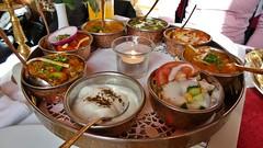 Vegetable Thali (Sanseira) Tags: essen vegetarisch vegetable thali indisch gemüse raita salat nan basmati reis ganesha landsberg