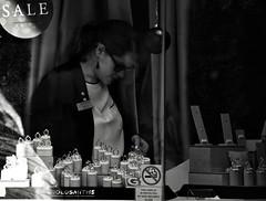 Just Dreaming (Bury Gardener) Tags: suffolk streetphotography street streetcandids snaps strangers candid candids people peoplewatching folks nikond7200 nikon burystedmunds bw blackandwhite britain england eastanglia uk 2019 monochrome mono m cornhill