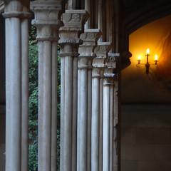Detalle del Claustro (Kasabox) Tags: barcelona bcn art arte arquitectura architecture building luz light claustro iglesia church columna capitel gotico gotic gothic