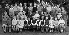 Class photo (theirhistory) Tags: boy child kid girl class form group teacher skirt shoes wellies jumper wellingtons