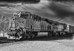 ES44C4 Locomotive_BW (Kool Cats Photography over 11 Million Views) Tags: locomotive locomotives clouds bnsf es44c4 travel train tracks railroad blackandwhite bw landscape oklahoma oklahomacity outdoor