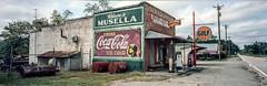 Musella Store Film Panorama View (Neal3K) Tags: cocacola coke generalstore georgia gulfgasoline kodakektar100 musellaga signs gas panorama mediumformat smalltown royalcrowncola