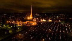 All Saints Day, Allhelgona afton. Pedersöre kyrka i Jakobstad (Mika Lehtinen) Tags: church allsaintsday allhelgona fromabove drone dji phantom jakobstad finland pedersörekyrka candles lights gravgård