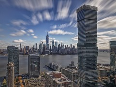 At lunch (karinavera) Tags: city longexposure photography cityscape urban ilcea7m2 sunset nyc filter clouds nd daylight manhattan wallstreet newyork