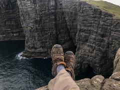 Faroe Islands - Traveling Boots (virtualwayfarer) Tags: blue faroeislands fo travel roadtrip explore goexplore travelphotography landscape landscapephotography nature natural rawnature adventuretravel traveling exploring naturalworld island seaside islands atlantic coastal fjord fjords wild sony sonyalpha a7rii alexberger virtualwayfarer trælanípan boot boots spiritoftravel keen travelingboots hiking