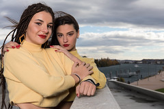 Inès & Charlotte (Claude Schildknecht) Tags: ad600pro alamercery beauty broncolor charlotte confluence europe france girl inès lyon makeupartist makeup manfrotto maquillage maquilleuse marion model museum muséedesconfluences places shooting woman redlips
