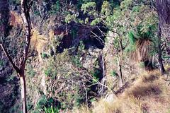 Kinnane's Falls 4 (NettyA) Tags: 1993 australia kinnanesfalls mainrangenationalpark qld queensland bushwalk bushwalking scannedprint scenicrim seqld
