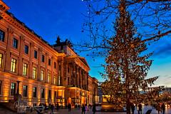 Schloss Arkaden (r.wacknitz) Tags: braunschweig xmas lowersaxony niedersachsen blauestunde christmas aurorahdr architektur december nikond7200 nikkor