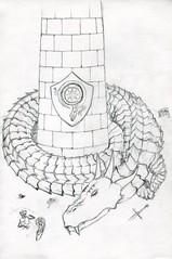 sc0302 (Josh Beck 77) Tags: drawing doodle sketch fantasy medievalfantasy medieval fantasycreature dragon