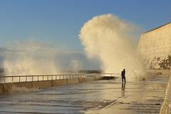 Sea spray Saltdean 9.12.18 smaller (suzy jh) Tags: waves coast sea saltdean east sussex eastsussex seaspray bluesky water reflections