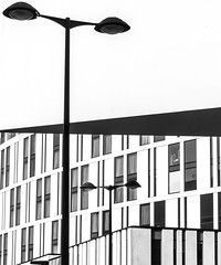 Walkway 4 (stephenbryan825) Tags: hilton johnlewis liverpool liverpoolone merseyside angles architecture building buildings dramaticlight graphic lamppost selects sky walkway