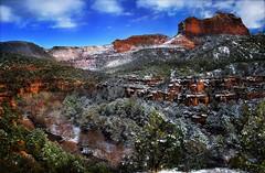 New Year's Day 2019 -- Oak Creek Canyon (D'ArcyG) Tags: sedona arizona snow snowy oakcreekcanyon canyon snowfall wintery redrocks newyearsday january1 2019 southwest mountain