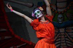 In Marigold (Pedestrian Photographer) Tags: ddlm dsc6259 oct october 2018 dia de los muertos hollywood forever cemetery dance dancers dancing stage la catrina laurie marie contemporary arte movement company