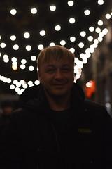 _DSC5076 (Aris_Totel) Tags: light lights shing blinke man male smoke city bokeh bulb