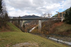 RhB Klosters - Old Rail Bridge (Kecko) Tags: 2018 kecko switzerland swiss schweiz graubünden graubuenden gr klosters platz prättigau davos rhätischebahn rhaetian railway railroad bahn viafierretica rhb landquart brücke bridge swissphoto geotagged geo:lat=46868870 geo:lon=9879580