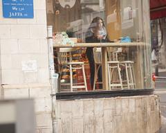 Looking at Jaffa Street-2 (zeevveez) Tags: זאבברקן zeevveez zeevbarkan canon people rain jaffastreet