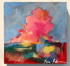 My Heart is at Home (Kerri Blackman) Tags: farmhouse abstractlandscape colorful countryside countryscene originalpainting artwork clouds intuitiveart