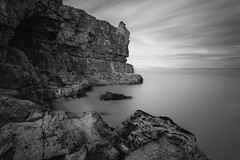 Long Exposure-Pure Silk (Long Exposures/Nature In Landscapes) Tags: longexposure monochrome seascape landscape nature naturescene scenery scenic scene view vista ndfilters daylightlongexposures colwynbay northwales unitedkingdom ethereal