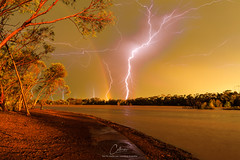 Lake Douglas, Kalgoorlie WA (geoffcollins82) Tags: westernaustralia australia au kalgoorlie lake douglas lightning goldfields rainbow kalgoorlieboulder karramindie yilkari binduli