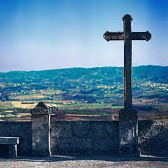 The cross, the overpowering cross (lebre.jaime) Tags: portugal beira covilhã landscape valley cross hill kodak ektar100 hasselblad sonnar cf40150 overpowering analogic middleformat mf film 120