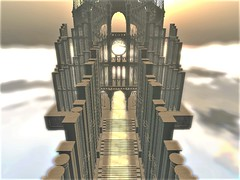 """ Gateway to Heaven "" (maka_kagesl) Tags: secondlife sl second sky life landscape lighting light lights game gaming virtual videogame"