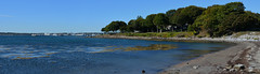 Rockland - Rockland Panorama (Explored 14 dec 2018, #95) (Drriss & Marrionn) Tags: travel coast maine usa rockland landscape seascape water sea ocean breakwater passage shore sky bluesky building buildings panorama seaside city houses shoreline harbour pano trees
