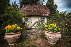 """the worlds most charming garden shed - abris de jardin - Château de Boutemont, Ouilly-le-Vicomte, Calvados, Normandy, France (grumpybaldprof) Tags: """"châteaudeboutemont"""" ouillylevicomte calvados normandy france gardens castle chateau charming impressive picturesque beautiful """"10thcentury"""" """"boutemonthughesin1180"""" """"boutemontguillaume1195"""" ancient medieval rennaisance """"touquesvalley"""" jardinremarquable park """"motteandbailey"""" """"monumenthistorique"""" renaissance peaceful mood atmospheric calm garden shed gardenshed lovely """"fineart"""" ethereal striking artistic interpretation impressionist stylistic style contrast shadow bright dark black white illuminated colour colours colourful """"wideangle"""" ultrawide canon 70d """"canon70d"""" sigma 1020 1020mm f456 """"sigma1020mmf456dchsm"""" restful shack jardin maison abris abrisdejardin"""