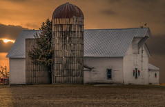 Holiday Barn (henryhintermeister) Tags: barns minnesota wibarns oldbarns clouds farming countryliving country sunsets storms sunrises pastures nostalgia skies outdoors seasons field hay silos dairybarns building architecture outdoor winter serene grass landscape plant cloudsstormssunsetssunrises stacymn