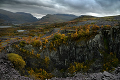 Turning yellow (PentlandPirate of the North) Tags: glynrhonwy seimens factory blotonthelandscape snowdonia llanberis snowdon northwales autumn fall colours trees slate quarry landscape yellowleaves