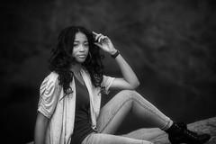 Alexis103 (Litratistica Images NYC) Tags: ebony november newyorkcity centralpark nyc blackandwhite blackgirl new model park monochrome monochromatic rocks face litratisticaimages earldolphy ebonygirl