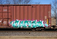 Gapido (quiet-silence) Tags: graffiti graff freight fr8 train railroad railcar art gapido eka boxcar cibx cibx172167