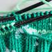 Green mitten in progress (HMM!)