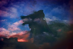 Hija del viento (Conserva tus Colores) Tags: conservatuscolores dobleexposición cielo nubes viento cabello oldpic girl alejandrapizarnik sky surdechile sunset colores photographerontumblr photograhpers artistasonflickr art experimento movimiento silhouette silueta canon canongirl me