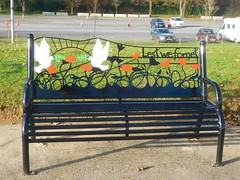Respect (4 of 9) (goweravig) Tags: respect armistice 19141918 swanseapromenade foreshore swansea wales uk ww1 100thanniversary bench seat lestweforget