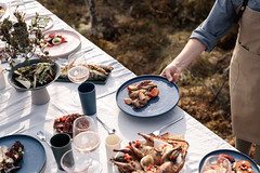 Dinner in bog (VisitEstonia) Tags: outdoor nature bog sunny food day dinner enjoy chef fall taste serving industry table
