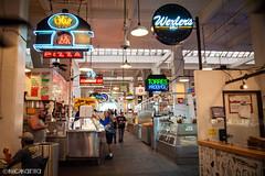 Grand Central Market (Nick Kanta) Tags: california color food grandcentralmarket losangeles neon people streetphotography iphone7 iphoneography